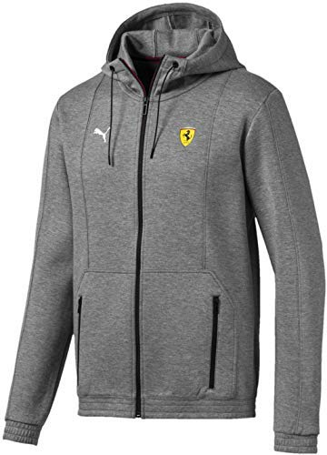 (PUMA Men's Standard Scuderia Ferrari Hooded Sweat Jacket, Medium Gray Heather, XX-Large)