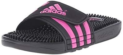adidas Performance Adissage K Sandal (Toddler/Little Kid/Big Kid), Black/Shock Pink/Shock Pink, 10 M US Toddler