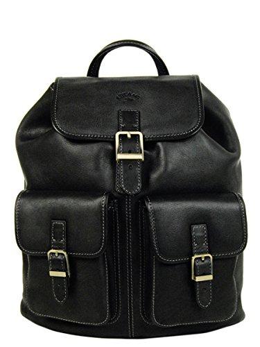 Katana, sac à dos en cuir de vachette, K 32543 noir