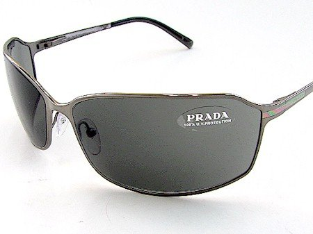 c57d62b84bef New Prada Spr 58G Spr58G 5Av-1A1 Sunglasses 69-15-115 Grey Shades Gunmetal  Temple  Amazon.co.uk  Clothing