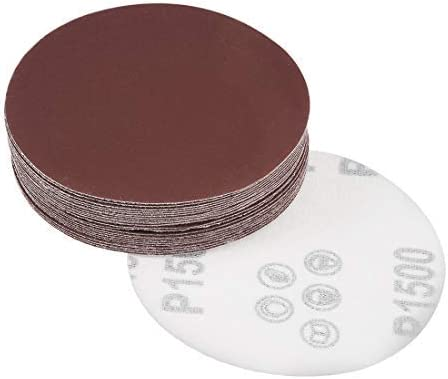 - 4-Inch Sanding Disc, 1500 Grains, Aluminum Oxide, Flocking, zurück Sandpaper für Sanders, 25 Pieces