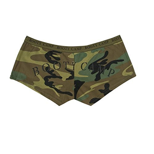 - Womens Boy Shorts - Booty Camp Booty Shorts, Woodland Camo, 2X