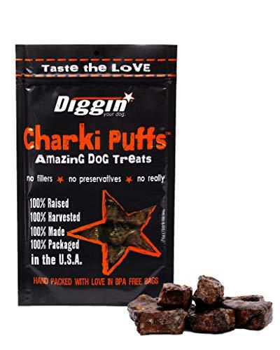 Diggin Your Dog Charki Puffs Amazing Dog Treats Antibiotic, Hormone, And Grain Free 100% Usa Beef Lung & Liver 6Oz Bag