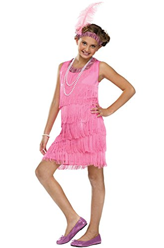 Fun World Flapper Costume, Medium 8 - 10, Pink