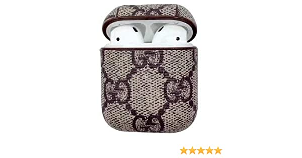 02291c95d37 Amazon.com: Gucci Airpod Case Protective Case Wireless Bluetooth Headset  Box Charging Box Leather Earphone Cover for Air Pods (GG (Pattern)): Home  Audio & ...