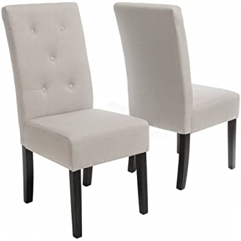 Amazon Com Roundhill Furniture C051gy Kecco Grey Solid Wood Dining Chairs Set Of 2