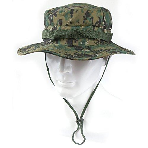 ATAIRSOFT Airsoft Tactical Boonie Hat Cap Camping Digital Woodland ()