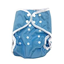 BB2 Baby One Size Solid Happy Leak-free Snaps Cloth Diaper Cover for Prefolds (One Size, Blue)