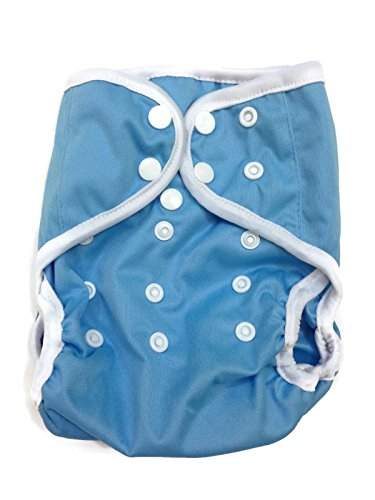 BB2 Baby One Size Solid Happy Leak-free Snaps Cloth Diaper Cover for Prefolds (One Size, - Snappi Diapers Fitted