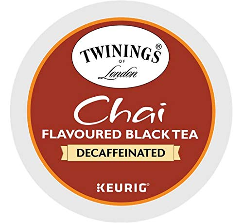 Keurig Tea and Ice Tea Pods K-Cups 18/22 / 24 Count Capsules ALL BRANDS/FLAVORS (Twinings/Chai/Celestial/Lipton/Tazo/Diet Snapple) (24 Pods Chai Decaf Tea) -  Globalpixels