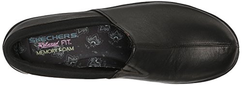 Skechers Singolare Black on Slip Leather Loafer Savor vrzU1v