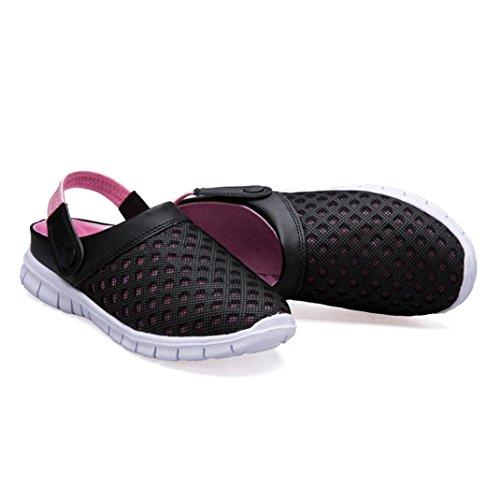 Familizo Sandale Flip Hommes D'été Flops Rose Femmes Respirant Mesh Beach Chaussures rPwxr