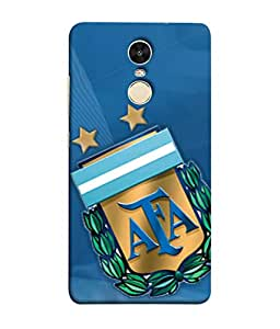 ColorKing Football Argentina 04 Blue shell case cover for Xiaomi RedMi Note 5