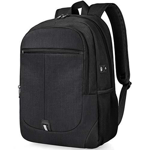 Laptop Backpack 15.6 inch School Students Bag College Computer Bookbag Water Resistant Travel Business Backpacks for Men Women Hiking Traveling Carryon Lightweight Daypack Black