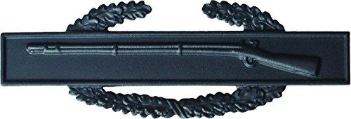 Combat Infantry Badge - Metal Insignia - Black - Full Size
