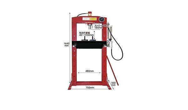 GOWE 20Ton manual pneumatic shop press air impact for auto