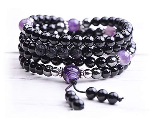 Mala Beads - Buddha Necklace - Yoga Jewelry - Meditation Beads - Tibetan Bracelet - Chakra Stones - Tassel - Bead Mantra Bracelet