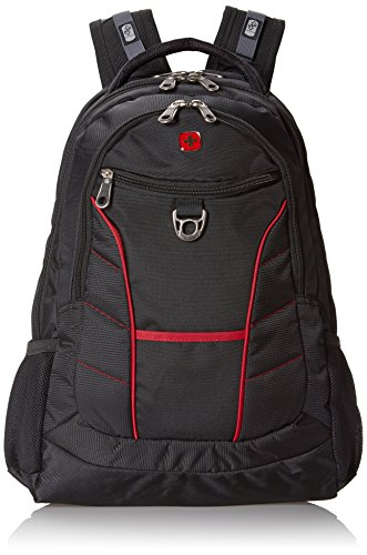 - Swiss Gear SA1775 Black with Red Accents Laptop Backpack - Fits Most 15 Inch Laptops and Tablets