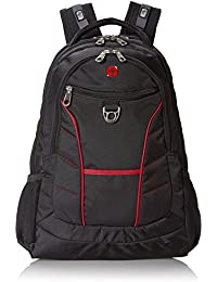 SA1775 Black with Red Accents Laptop Backpack - Fits Most 15 Inch Laptops and Tablets