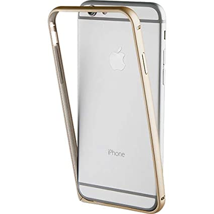 ClicKart Crown Slim Protective Bumper Case with Soft TPU Shockproof Inner,  No Signal Blocking for iPhone 6/6S (Gold)