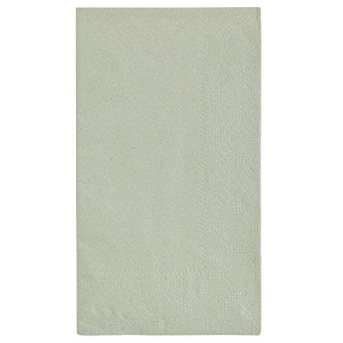 Hoffmaster 180546 Soft Sage Green 15'' x 17'' Paper Dinner Napkins 2-Ply - 125/Pack by Hoffmaster