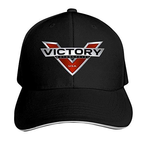 (SsSEYYA Sandwich Cap Victory Motorcycles Durable Baseball Hats Adjustable Peaked Trucker Cap Black)