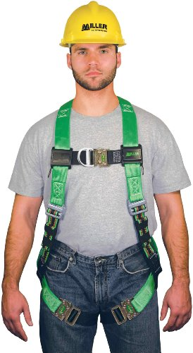Miller by Honeywell P950FDQC/UGN DuraFlex Python Full-Body Ultra Harnesses with Front D-Ring and Comfort D-Pad, Universal, Green