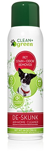 - DeSkunk Odor Eliminator, Deodorizer, Clearer to Remove Skunk Smell from Your Pets and Home, Natural Non-Toxic Spray 14 Ounce