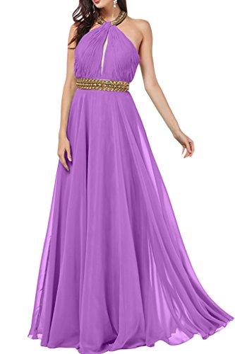 vestido Neck Prom Lavanda Mujer para de piedras con ressing vestido vestido fiesta noche Holder línea a de gasa de ivyd wXvqRnO