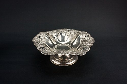 Art Nouveau Beautiful Floral Sterling Silver Henry Wilkinson Antique Decorative BOWL Medium Cereal Table English 1903 LS