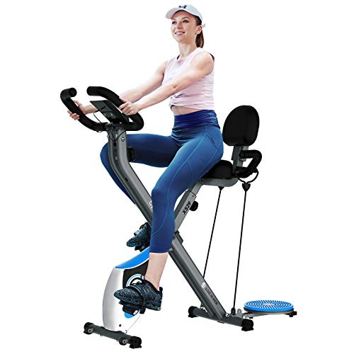cycool Foldable Exercise Bike Magnetic Stationary Bikes Indoor Cardio Training Cycle with Comfortable Seat Cushion…