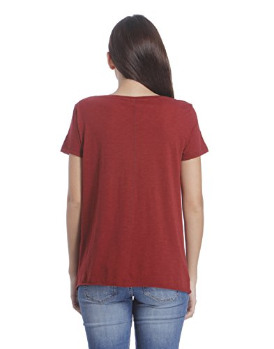 Camiseta Only Kaya Granate Rojo