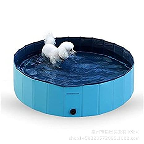 HLMHHL Suministros para Perros Piscina para Mascotas Piscina Plegable Baño para Gatos Protección del Medio Ambiente PVC Suministros para Perros ...