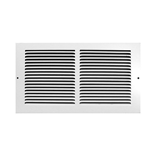 Accord AB3BGWH148 Baseboard Grille with 1/3-Inch Fins Louvered Design, 14-Inch x 8-Inch(Duct Opening Measurements), White