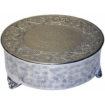 GiftBay Creations 743 12R Wedding Round Cake Stand 12 Inch Silver
