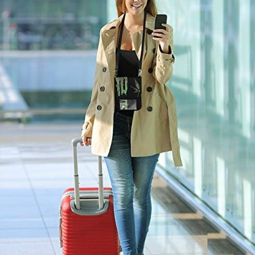 トラベルウォレット ミニ ネックポーチトラベルポーチ ポータブル 旗 黒 小さな財布 斜めのパッケージ 首ひも調節可能 ネックポーチ スキミング防止 男女兼用 トラベルポーチ カードケース