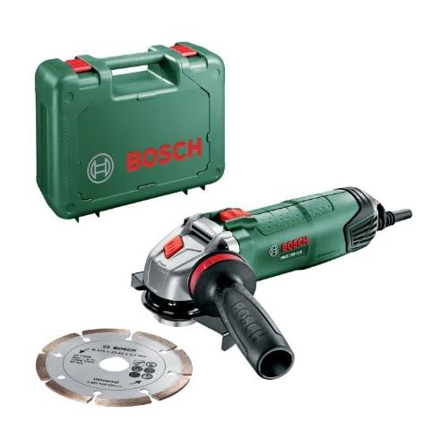 chollos oferta descuentos barato Bosch Miniamoladora PWS 750 115 con disco de diamante y empuñadura anti vibraciones 750 W y Ø 115 mm