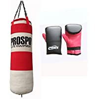 Prospo Water Proof Canvas Punching Bag 36 Inch With Punching Bag Glove (Heavy Bag)