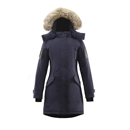 Triple F.A.T. Goose Embree Womens Hooded Arctic Parka With Real Coyote Fur (Small, - Canadian Designers Online