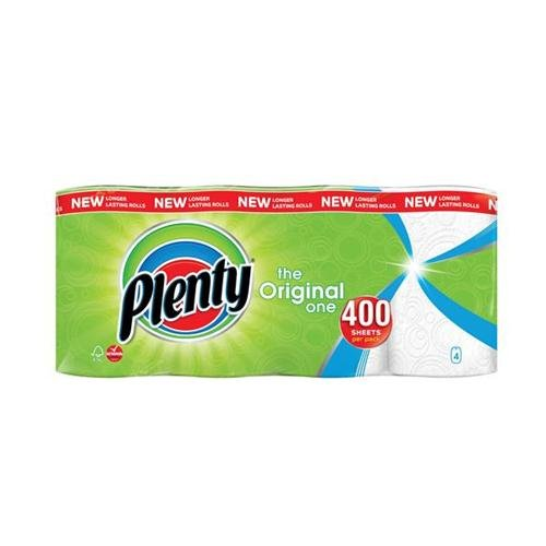 Plenty Double Kitchen Roll Ref 1105191 Pack 4 140521