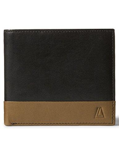 Leather Architect Men's 100% Leather Classic Bifold RFID Blocking Wallet Black New Cognac - Classic Bi Fold