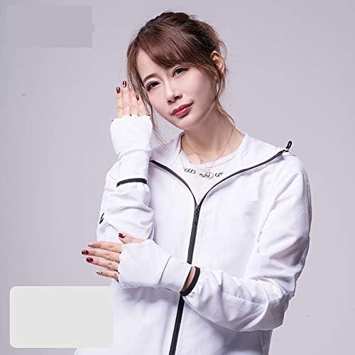 手袋 日常 実用 UPF50 + Fingerless UV Protection通気性滑り止めグローブ (Color : Mocha gray, Size : L-Two pairs)