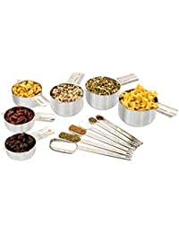 Take 12-Piece Stainless Steel Measuring Cups and Spoons – Premium Metal Stackable Set – 6 Cups & 6 Spoons Nested Perfectly... occupation