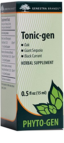 Genestra Brands - Tonic-gen - Oak, Giant Sequoia, and Black Currant Herbal Supplement - 0.5 fl oz (15 ml)