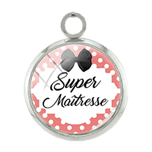Pendants -1Pc French Super Teachers Pendants Charms Students Handmade Silver Plated 12Mm Glass Fashion DIY Women Gift Jewelry - - Charm Italian Basketball