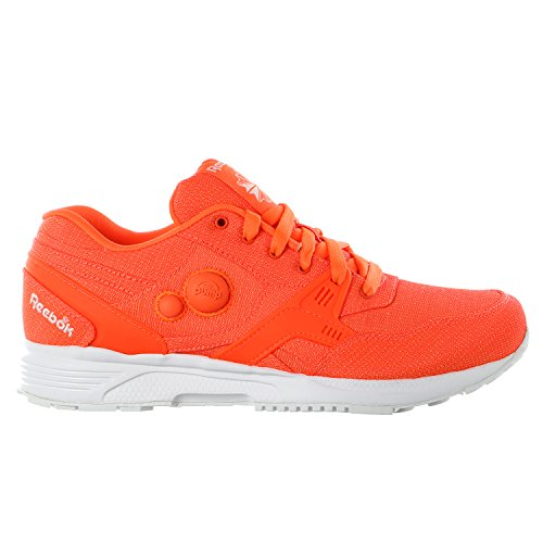 Reebok Pump Running Dual Tech Shoes - Solar Orange / White - Mens - 10.5