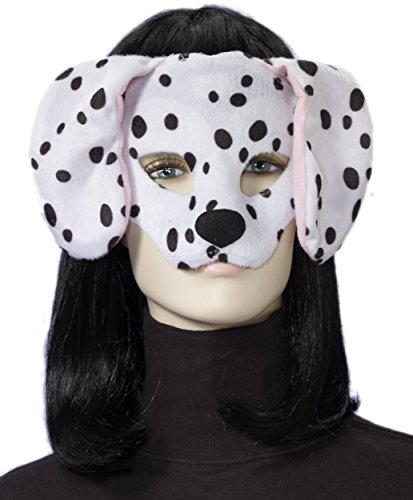 [Forum Novelties ages 8+ Plush Dalmatian Mask, White/Black, One Size] (Dog Ears Costumes)