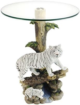 OK Lighting Animal 24″ H Glass Top Color Sculpture End Table