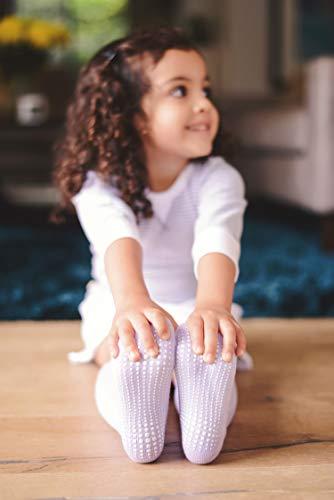 536172222 LA Active Girls Knee High Grip Socks – 5 Pairs - Baby Toddler Non Slip