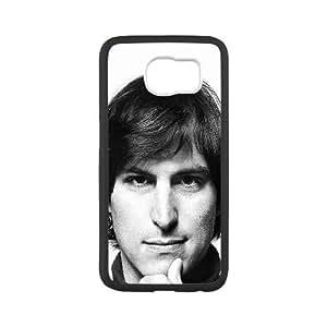 Samsung Galaxy S6 Cell Phone Case Black Young Steve Jobs Face Htbpk